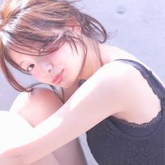 ロング ヘアアレンジ ショート フェミニン ヘアスタイルや髪型の写真・画像