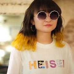 裾カラー ブリーチ必須 ガーリー ブリーチオンカラー ヘアスタイルや髪型の写真・画像