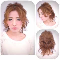 アップスタイル 波ウェーブ ショート ヘアアレンジ ヘアスタイルや髪型の写真・画像