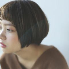 ミニボブ ショートボブ 透明感 ショートヘア ヘアスタイルや髪型の写真・画像