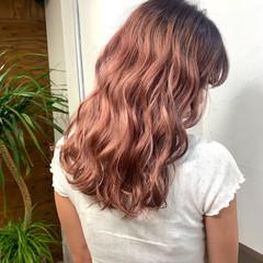 レッド チェリーレッド ストリート セミロング ヘアスタイルや髪型の写真・画像