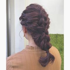 冬 ヘアアレンジ フェミニン 秋 ヘアスタイルや髪型の写真・画像