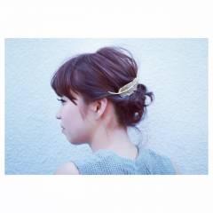 愛され ボブ 編み込み ヘアアレンジ ヘアスタイルや髪型の写真・画像