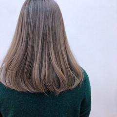 ロブ ゆるふわ ミディアム ナチュラル ヘアスタイルや髪型の写真・画像