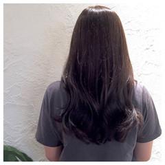 ロング グレージュ アッシュグレージュ アッシュ ヘアスタイルや髪型の写真・画像