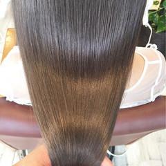 グラデーションカラー ロング アッシュ グレージュ ヘアスタイルや髪型の写真・画像