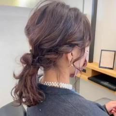 結婚式ヘアアレンジ フェミニン セミロング ヘアアレンジ ヘアスタイルや髪型の写真・画像