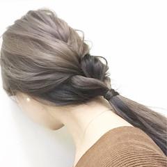 外国人風 暗髪 大人女子 ヘアアレンジ ヘアスタイルや髪型の写真・画像
