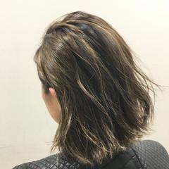 ボブ アッシュ 外国人風 外ハネ ヘアスタイルや髪型の写真・画像