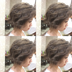 外国人風 くせ毛風 ショート ストリート ヘアスタイルや髪型の写真・画像