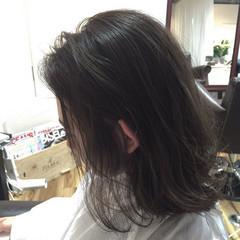 グラデーションカラー ボブ 色気 アッシュ ヘアスタイルや髪型の写真・画像