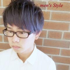 暗髪 ショート ハイライト モード ヘアスタイルや髪型の写真・画像