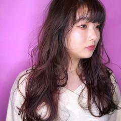 ロング ピンクバイオレット ピンク ピンクブラウン ヘアスタイルや髪型の写真・画像
