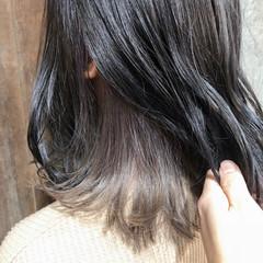 インナーカラー ボブ 外国人風カラー ダブルカラー ヘアスタイルや髪型の写真・画像