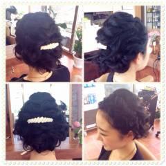 黒髪 外国人風 ミディアム ヘアアレンジ ヘアスタイルや髪型の写真・画像