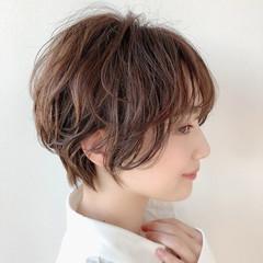 インナーカラー フェミニン ミニボブ ショートヘア ヘアスタイルや髪型の写真・画像