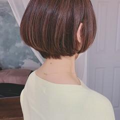 ミニボブ ナチュラル ショートボブ 大人ハイライト ヘアスタイルや髪型の写真・画像