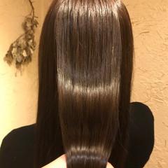 ナチュラル ストレート 髪質改善 ロング ヘアスタイルや髪型の写真・画像