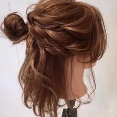 ゆるふわ ヘアアレンジ パーティ 大人かわいい ヘアスタイルや髪型の写真・画像