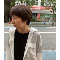 ショートボブ ショート インナーカラー ストリート ヘアスタイルや髪型の写真・画像