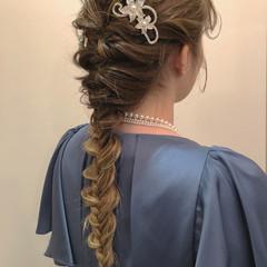 結婚式 成人式 謝恩会 ナチュラル ヘアスタイルや髪型の写真・画像