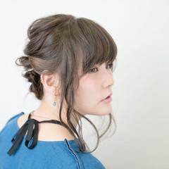大人かわいい ミディアム グラデーションカラー アッシュ ヘアスタイルや髪型の写真・画像