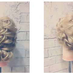 結婚式 ロング グラデーションカラー フェミニン ヘアスタイルや髪型の写真・画像