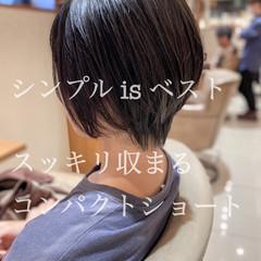 ミニボブ ショートヘア マッシュショート 小顔ショート ヘアスタイルや髪型の写真・画像