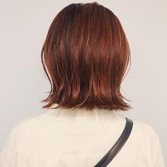 ガーリー 切りっぱなしボブ ボブ ショートボブ ヘアスタイルや髪型の写真・画像