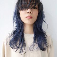 ストリート アッシュ セミロング 外国人風カラー ヘアスタイルや髪型の写真・画像