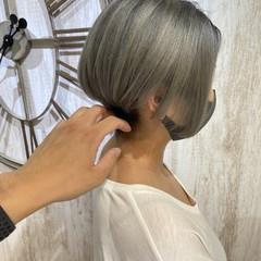おしゃれさんと繋がりたい 艶カラー ショートヘア ショート ヘアスタイルや髪型の写真・画像