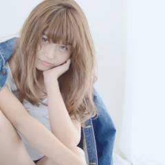 愛され 外国人風 セミロング モテ髪 ヘアスタイルや髪型の写真・画像