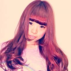 かき上げ前髪 ロング ストリート ガーリー ヘアスタイルや髪型の写真・画像