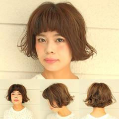 ガーリー ショート マッシュ ショートバング ヘアスタイルや髪型の写真・画像