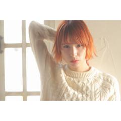 簡単ヘアアレンジ 前髪あり レイヤーカット ボブ ヘアスタイルや髪型の写真・画像