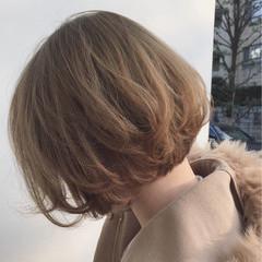 フェミニン パーマ ボブ ゆるふわ ヘアスタイルや髪型の写真・画像
