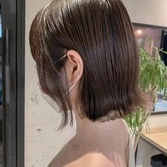 透明感カラー 外ハネボブ 韓国ヘア くびれボブ ヘアスタイルや髪型の写真・画像
