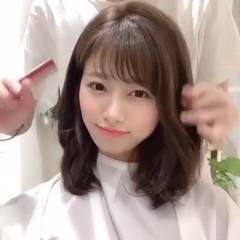 アンニュイほつれヘア デート パーマ ミディアム ヘアスタイルや髪型の写真・画像