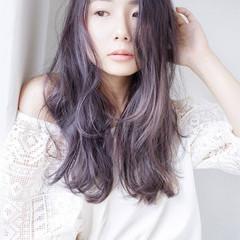外国人風 ナチュラル ラベンダーピンク ラベンダーアッシュ ヘアスタイルや髪型の写真・画像