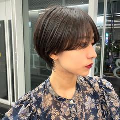 ショートボブ うざバング ショートヘア ミニボブ ヘアスタイルや髪型の写真・画像