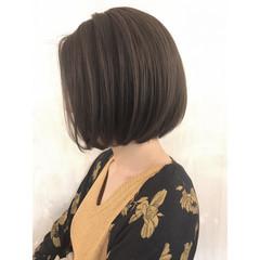 上品 バレイヤージュ グレージュ エレガント ヘアスタイルや髪型の写真・画像