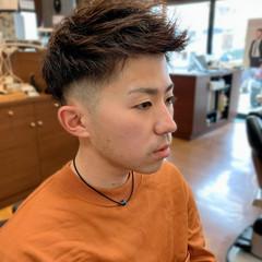 ショート メンズ ツーブロック フェードカット ヘアスタイルや髪型の写真・画像