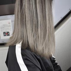 ハイライト バレイヤージュ グラデーションカラー モード ヘアスタイルや髪型の写真・画像