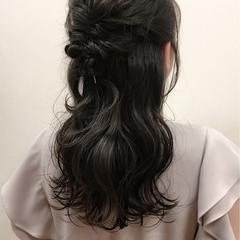 ハーフアップ ヘアアレンジ アップスタイル ロング ヘアスタイルや髪型の写真・画像