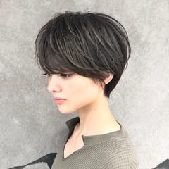 女子力 ナチュラル ショートボブ ショート ヘアスタイルや髪型の写真・画像
