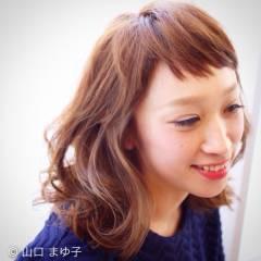 モテ髪 ミディアム ナチュラル コンサバ ヘアスタイルや髪型の写真・画像