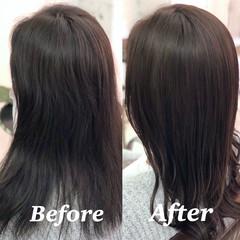 髪質改善 美髪 ロング 縮毛矯正 ヘアスタイルや髪型の写真・画像