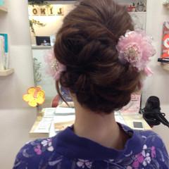着物 ミディアム 結婚式 謝恩会 ヘアスタイルや髪型の写真・画像