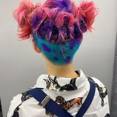 ブリーチオンカラー ブリーチ 2ブロック ダブルカラー ヘアスタイルや髪型の写真・画像