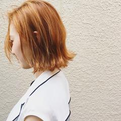 ダブルカラー 外ハネ 外国人風 ガーリー ヘアスタイルや髪型の写真・画像